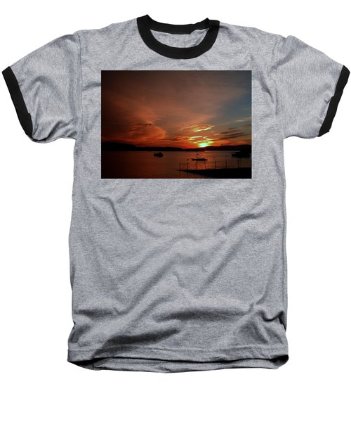 Sunraise Over Lake Baseball T-Shirt