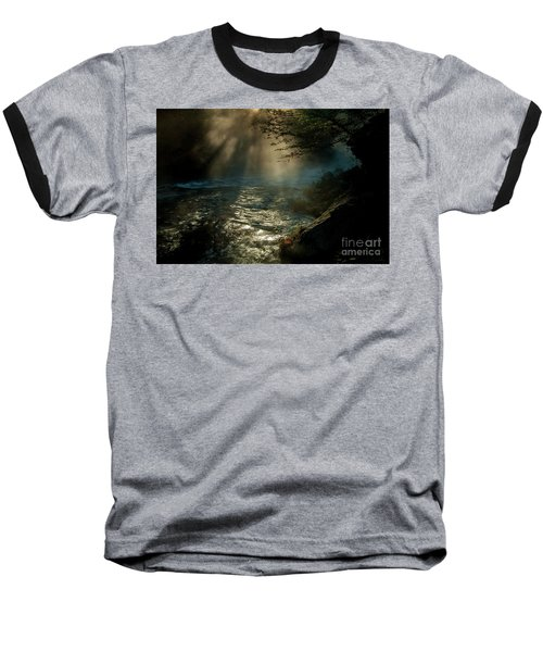 Sunrays At Fork River Baseball T-Shirt