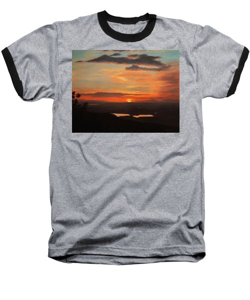 Sunrise Above Boulder Baseball T-Shirt