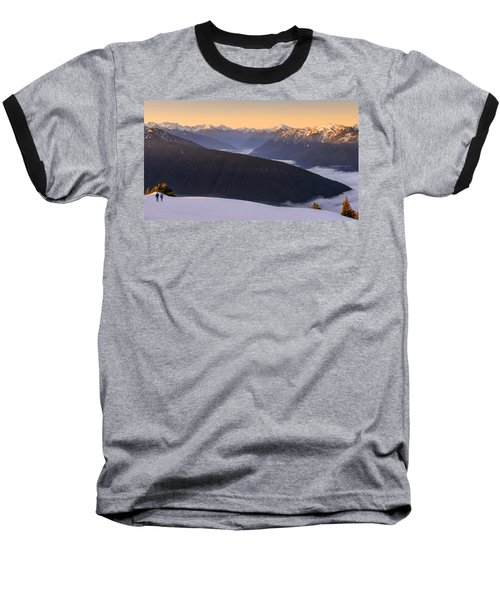 Sunrise Above The Clouds Baseball T-Shirt