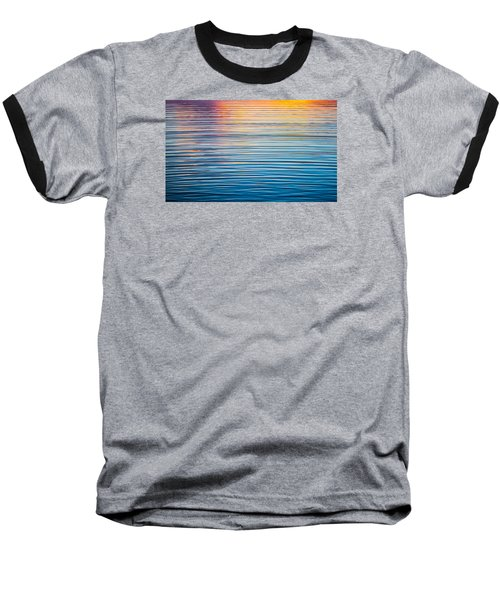 Sunrise Abstract On Calm Waters Baseball T-Shirt by Parker Cunningham