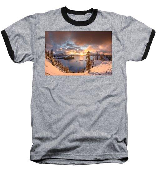 Sunrise After Summer Snowfall Baseball T-Shirt