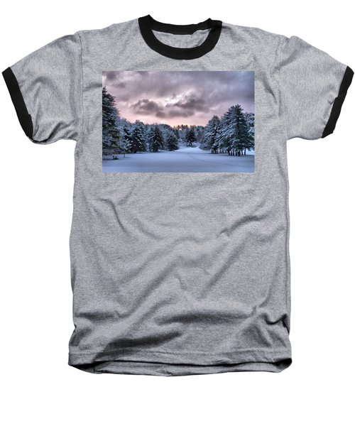 Sunrise After The Snow  Baseball T-Shirt by Betty Pauwels