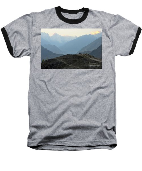 Sunrise Among The Karakoram Mountains In Hunza Valley Pakistan Baseball T-Shirt