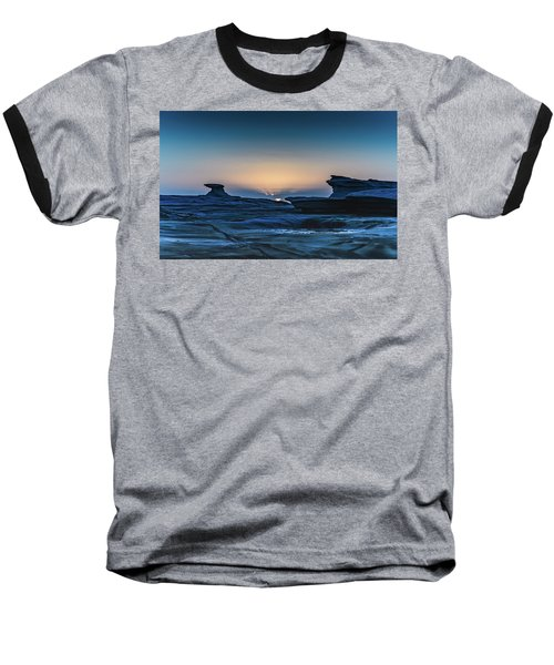 Sunrise And Rock Platform Landscape Baseball T-Shirt
