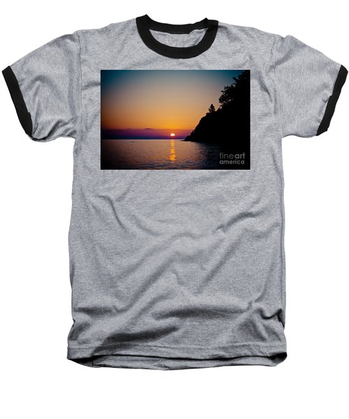 Sunrise And Seascape Baseball T-Shirt