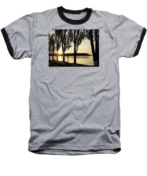 Sunrise And Silhouettes  Baseball T-Shirt