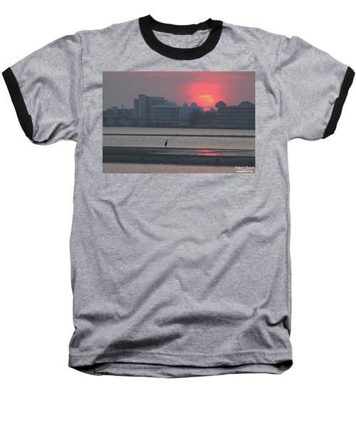 Sunrise And Skyline Baseball T-Shirt