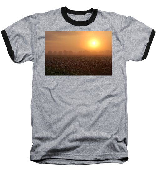 Sunrise And The Cotton Field Baseball T-Shirt