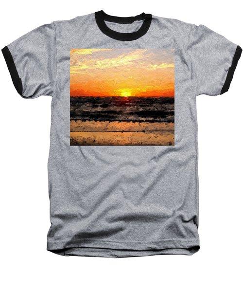 Baseball T-Shirt featuring the digital art Sunrise by Anthony Fishburne