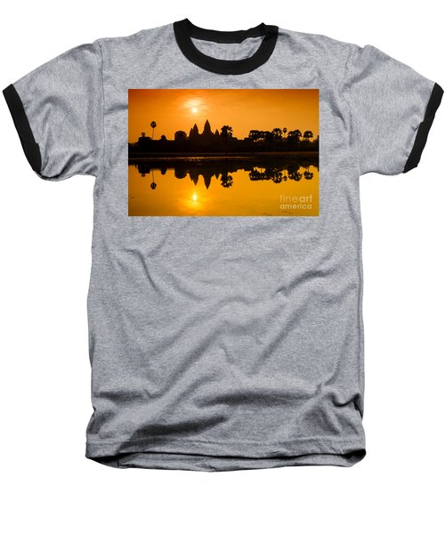Sunrise At Angkor Wat Baseball T-Shirt by Yew Kwang