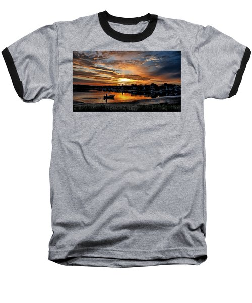 Sunrise At Back Cove Baseball T-Shirt