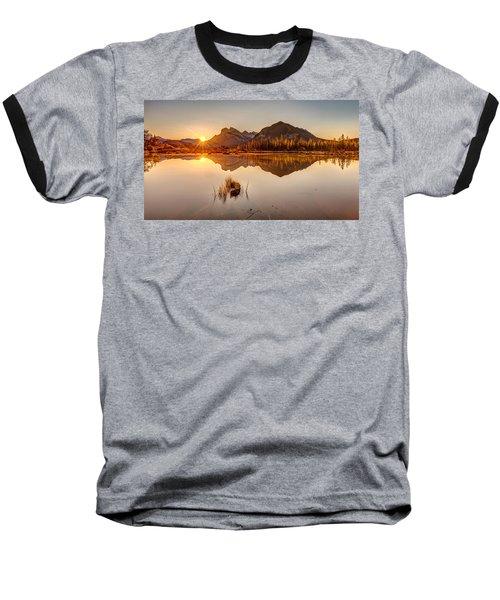 Sunrise At Banff's Vermilion Lakes  Baseball T-Shirt