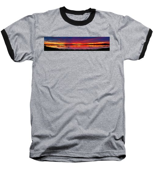 Sunrise At Bosque Del Apache Baseball T-Shirt