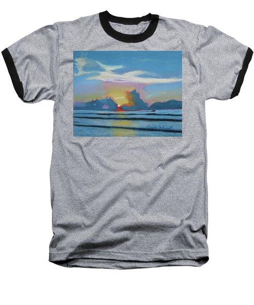 Sunrise At Cape Canaveral Beach Baseball T-Shirt