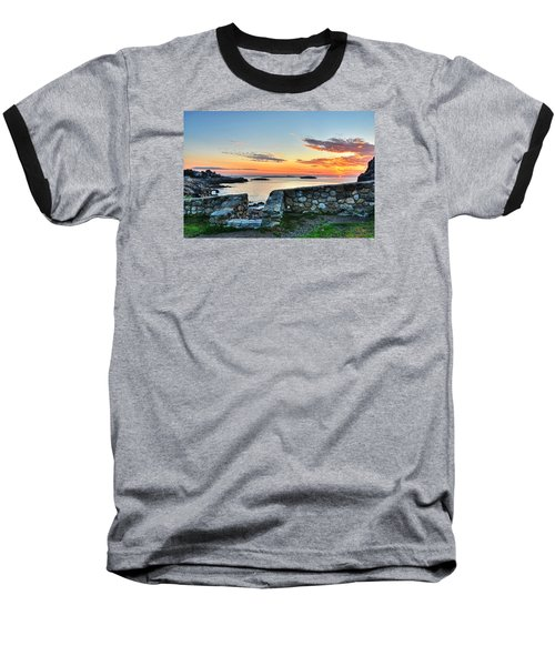Sunrise At Castle Rock Marblehead Ma Baseball T-Shirt
