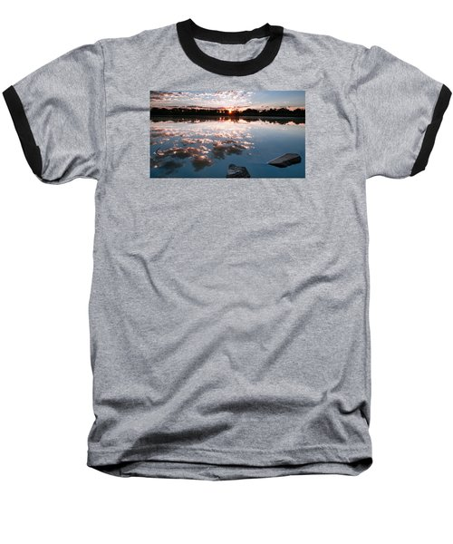 Baseball T-Shirt featuring the photograph Sunrise At Cattails Chorus Ponds by Monte Stevens