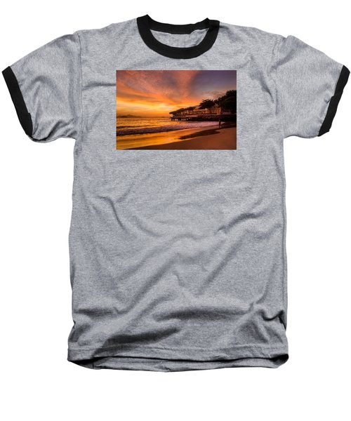 Sunrise At Copacabana Beach Rio De Janeiro Baseball T-Shirt