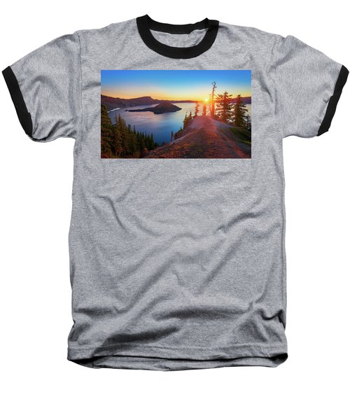 Sunrise At Crater Lake Baseball T-Shirt