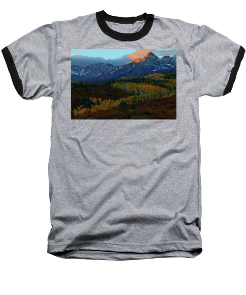 Sunrise At Dallas Divide During Autumn Baseball T-Shirt by Jetson Nguyen