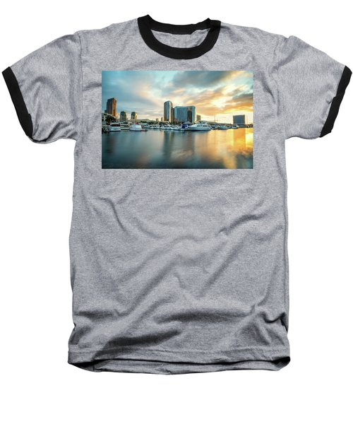Sunrise At Embarcadero Baseball T-Shirt by Joseph S Giacalone