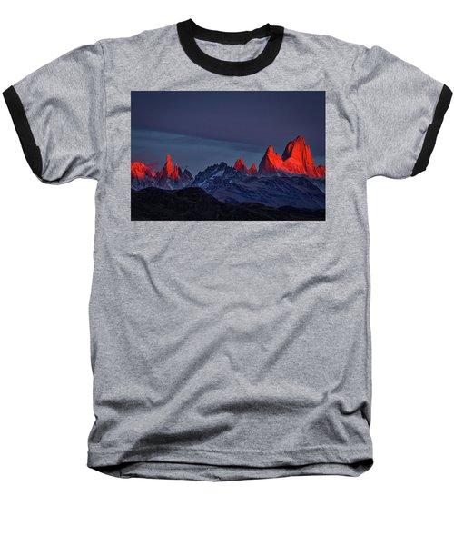 Sunrise At Fitz Roy #2 - Patagonia Baseball T-Shirt
