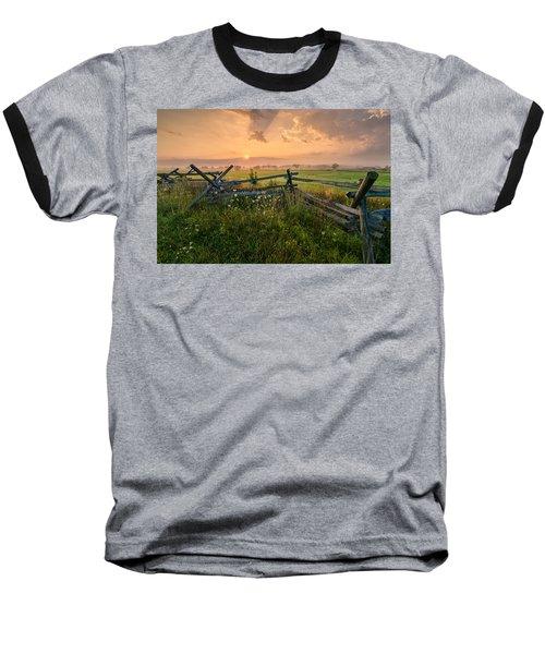 Sunrise At Gettysburg National Park Baseball T-Shirt by Craig Szymanski