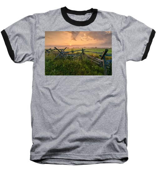 Sunrise At Gettysburg National Park Baseball T-Shirt