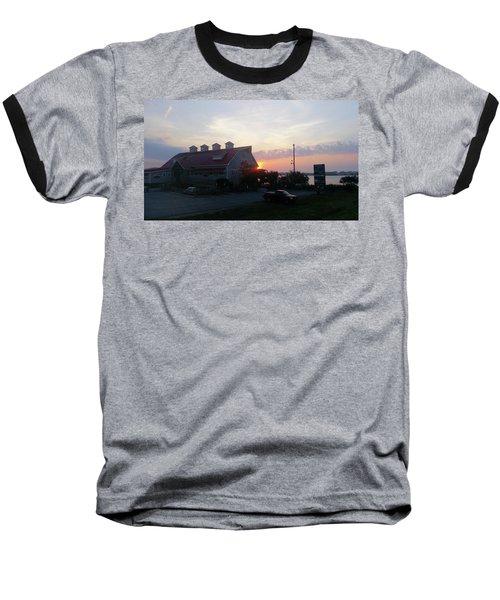 Sunrise At Hooper's Crab House Baseball T-Shirt by Robert Banach