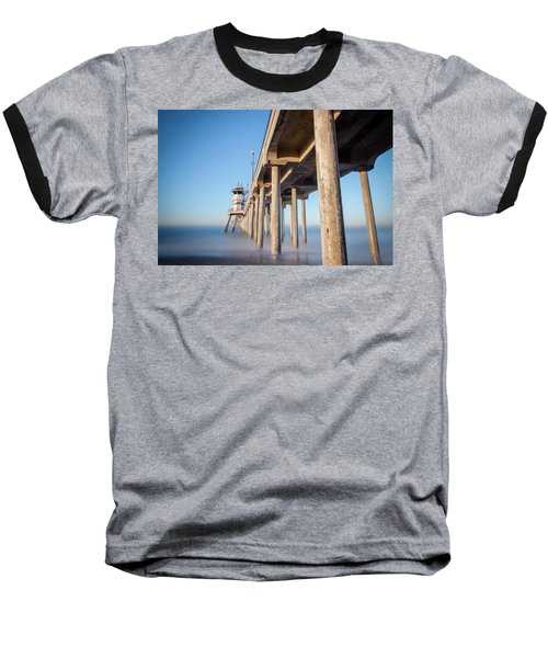 Baseball T-Shirt featuring the photograph Sunrise At Huntington Beach Pier by Sean Foster