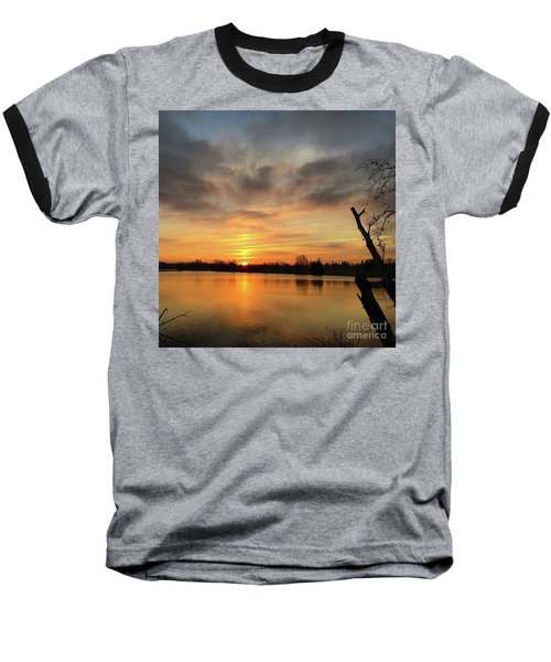Sunrise At Jacobson Lake Baseball T-Shirt by Sumoflam Photography