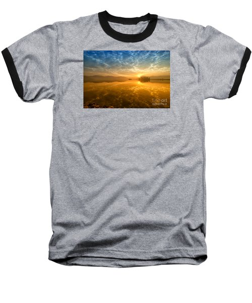 Sunrise At Jal Mahal Baseball T-Shirt by Yew Kwang