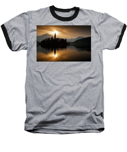 Sunrise At Lake Bled Baseball T-Shirt