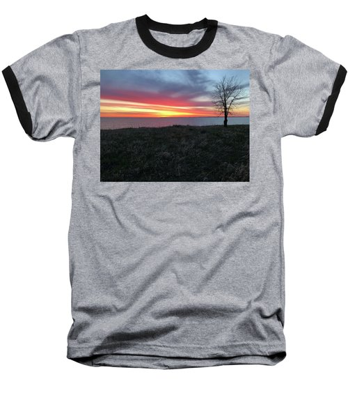Sunrise At Lake Sakakawea Baseball T-Shirt