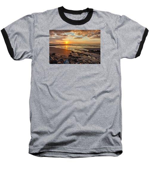 Sunrise At Long Sands Baseball T-Shirt