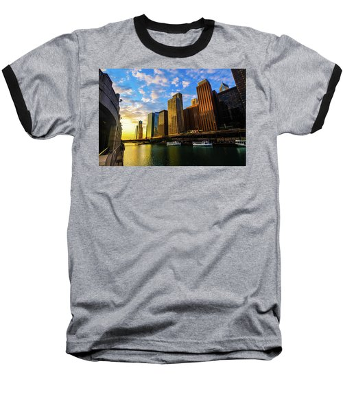 Sunrise At Navy Pier Baseball T-Shirt