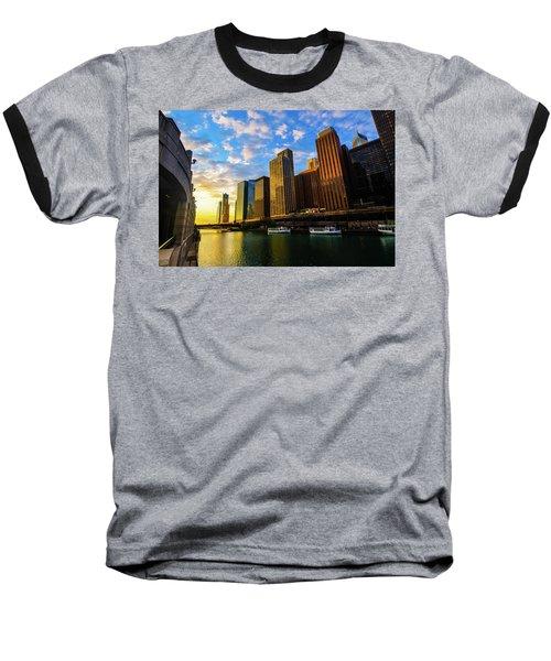 Sunrise At Navy Pier Baseball T-Shirt