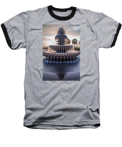 Sunrise At Pineapple Fountain Charleston Baseball T-Shirt