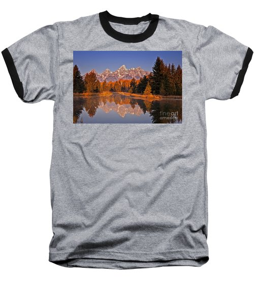 Sunrise At Schwabacher Landing  Baseball T-Shirt by Sam Antonio Photography