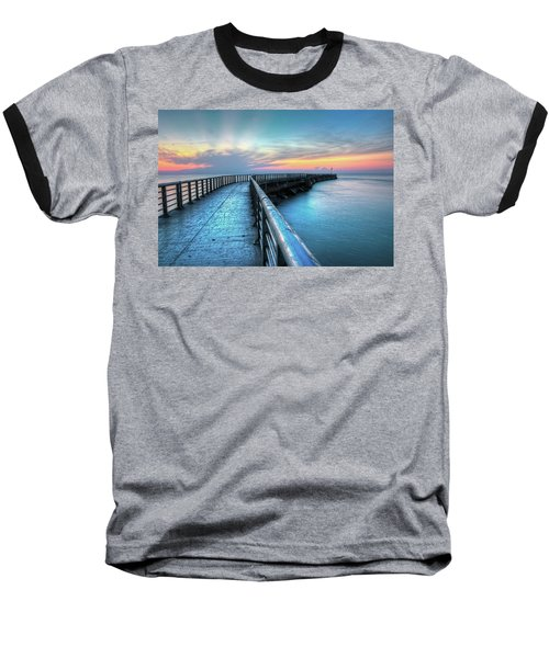 Sunrise At Sebastian Inlet Baseball T-Shirt