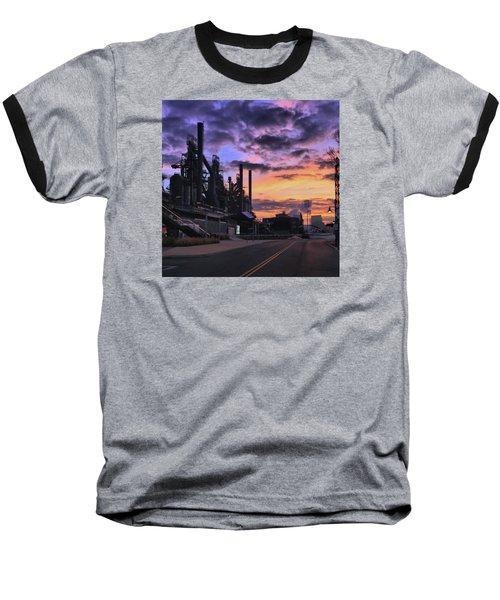 Baseball T-Shirt featuring the photograph Sunrise At Steelstacks by DJ Florek