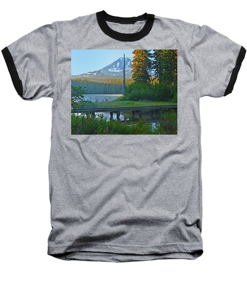 Baseball T-Shirt featuring the photograph Sunrise At Takhlakh Lake Under Mt Adams by Jack Moskovita