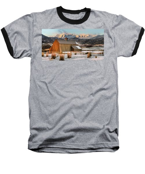 Sunrise At Tate Barn Baseball T-Shirt