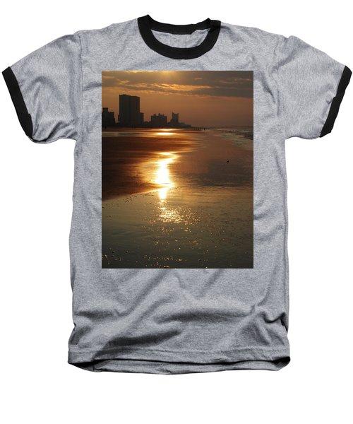 Sunrise At The Beach Baseball T-Shirt