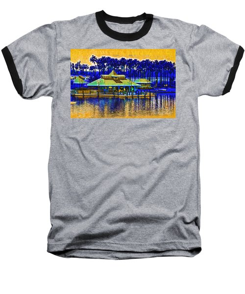 Sunrise At The Boat Dock Baseball T-Shirt