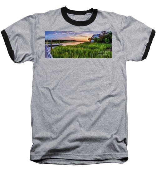Sunrise At The Boat Ramp Baseball T-Shirt