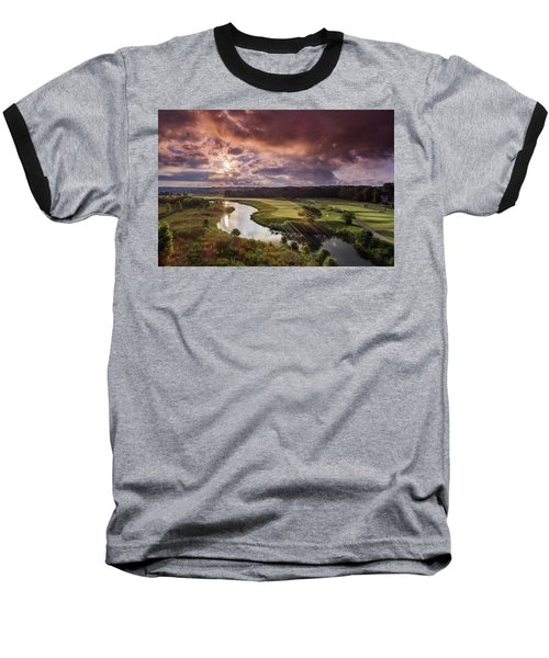 Sunrise At The Course Baseball T-Shirt