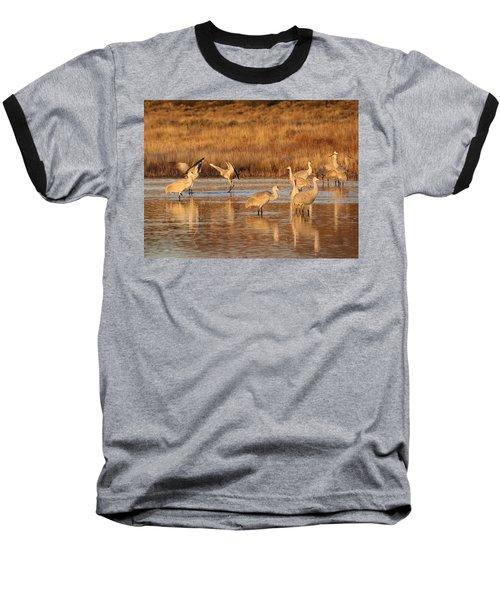 Sunrise At The Crane Pond Baseball T-Shirt