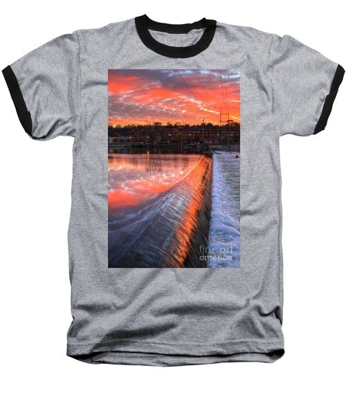 Sunrise At The Dam Baseball T-Shirt