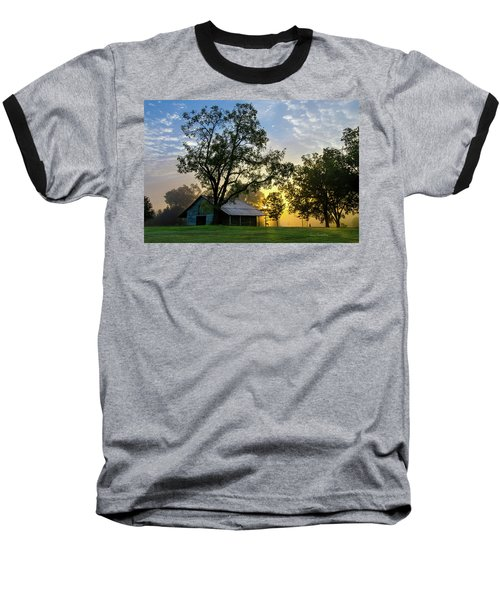 Baseball T-Shirt featuring the photograph Sunrise At The Farm by George Randy Bass